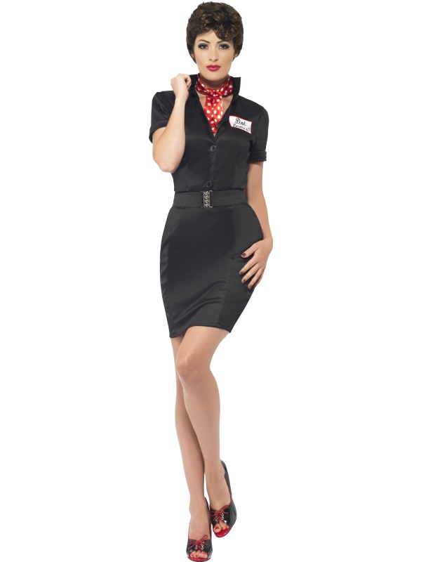 Vestido negro de Rizzo Grease
