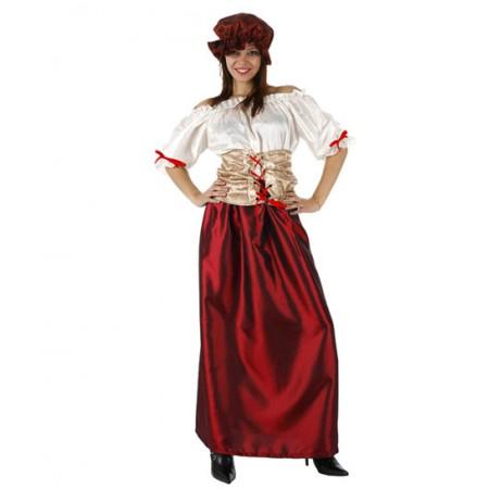 Disfraz con vestido de doncella de la Corte