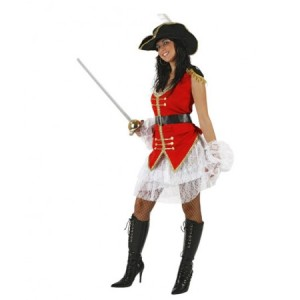 Disfraz de capitana pirata, disfracessimon.com