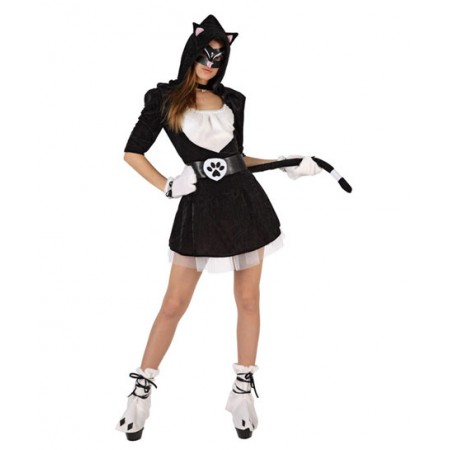Disfraz de gata negra