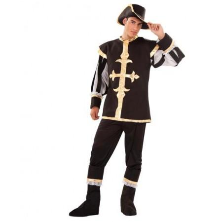 Disfraz de mosquetero negro tienda de disfraces