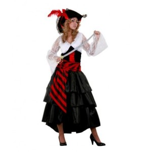 Disfraz de pirata con falda larga, disfracessimon.com