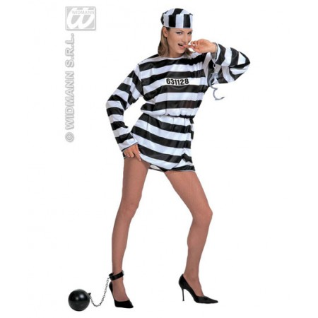 Disfraz de preso mujer. www.disfracessimon.com