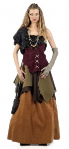 Disfraz de vikinga aldeana para mujer