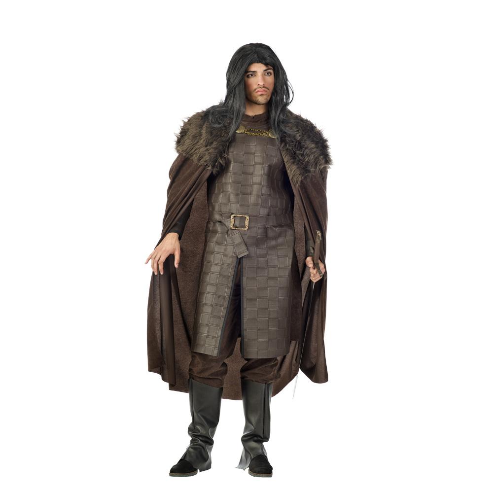 Disfraz de Jon nieve medieval para adulto con capa.