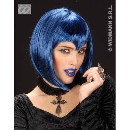 Peluca azul gotica vampira