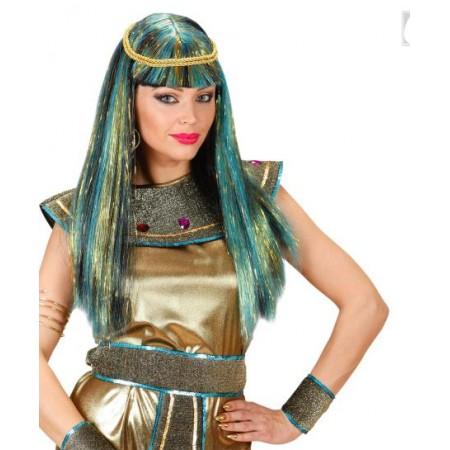 Peluca cleopatra con mechas