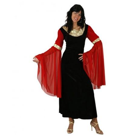 Vestido para disfraz de dama medieval
