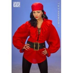 camisa roja de pirata, disfracessimon.com