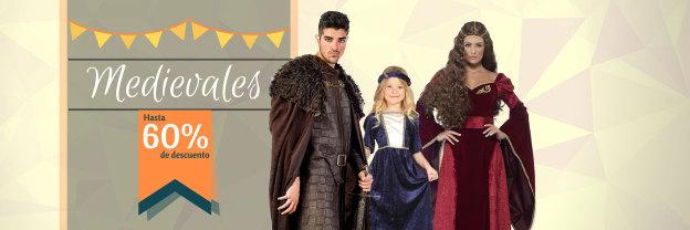 Trajes medievales para hombre, mujer y niños.