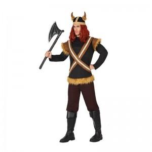disfraz de vikingo marrón
