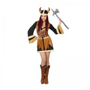disfraz de vikinga marrón