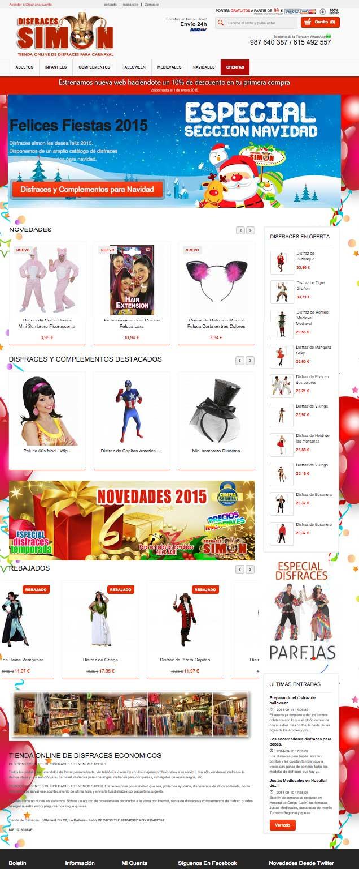 nueva web disfraces 2015